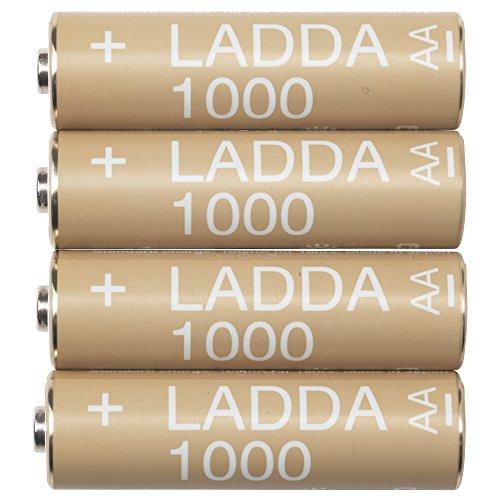 IKEA LADDA AA 1000 mAh NI-MH vorgeladene wiederaufladbare Batterien (Made in Japan)