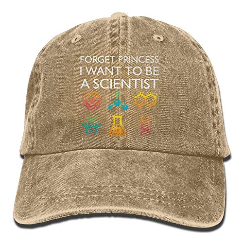 Unisex Adjustable Denim Fabric Baseball cap Forget Princess I Want to Be an Astrophysicist Hiphop cap