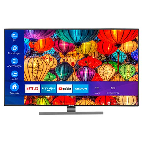 MEDION S14310 108 cm (43 Zoll) UHD Fernseher (Smart-TV, 4k Ultra HD, HDR Dolby Vision, Netflix, Prime Video, WCG, Micro Dimming, MEMC, WLAN, PVR, Bluetooth)