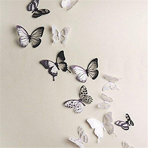 18 Piezas 3D Mariposa Pegatinas Pared Adhesivo Etiquetas