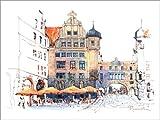 Poster 40 x 30 cm: Das Neue Rathaus in Leipzig von