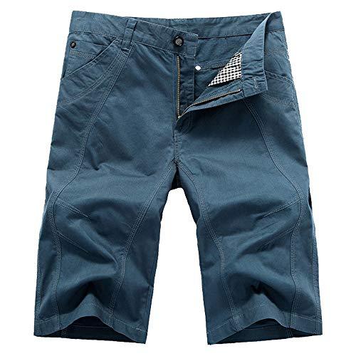 Aiserkly Herren Cargo Shorts Wadenlange Sporthose mit Reißverschlusstasche Kampfhose Kurze BroadclothHosen