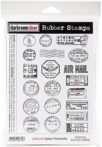 DARKROOM DOOR Cling Stamp, us:one size, Global Postmarks