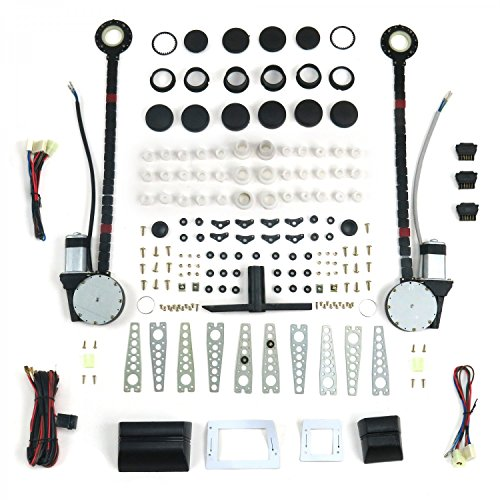 Autoloc Power Accessories 9846 2 Door Universal Power Window Kit with 3 Illuminated Switches