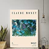 HJKLP lienzos decorativosLienzos de Agua Claude Monet Cuadro de Arte de Pared Poster de Paisaje impr...