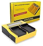 PATONA LCD Cargador Doble para BP-A30, BP-A60, BP-A65 Bateria Compatible con Canon EOS C200 C300 Mark II XF705 CA-CP200L
