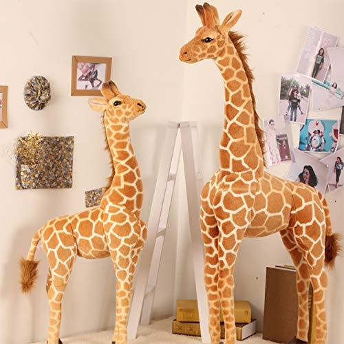WLYY 50cm-120cm Jirafa Gigante de la Vida Real Peluches Lindos muñecos de Peluche Muñeca de Ciervo Animal Suave Regalo de cumpleaños Juguetes para niños 120cm Jirafa
