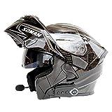 NF Bluetooth Integrado en el Casco de la Motocicleta Modular Estándar de Seguridad - Full Face Racing Motorcycle Helmet,C,XL