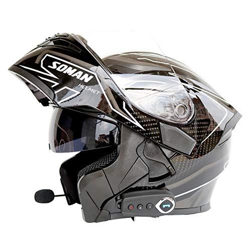 NF Bluetooth Integrado en el Casco de la Motocicleta Modular Estándar de...