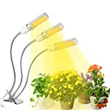 Lampe de Plante,KASSEN Lampe de Croissance Lampe Horticole 68W à Trois Têtes avec Cou de Cygne Flexible 360°,équipée de 132 LEDs,Parfait pour Plantes,Fleurs,et Légumes Intérieur.