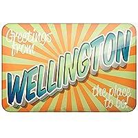 ウェリントンからのご挨拶ブリキの金属看板バーレトロな壁の装飾ポスターホームクラブ居酒屋の壁のドアの装飾アルミニウム看板