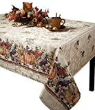 Barn & Home Jubilee Printed Jacquard Tablecloth (60' X 104' Rectangular) for Thanksgiving, Fall & Harvest