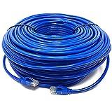 Mr. Tronic 100m Ethernet Netzwerk Netzwerkkabel | Patchkabel | CAT6, AWG24, CCA, UTP, RJ45 (100 Meter, Blau)