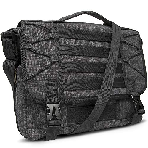 "Crossbody Messenger Bag for Men Multi-function Canvas Business Briefcases Work Purses Fits 13.3"" Laptop"