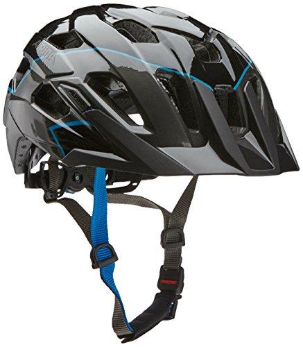 Alpina Radhelm Yedon Fahrradhelm, Black-Titanium-Blue, 53-57