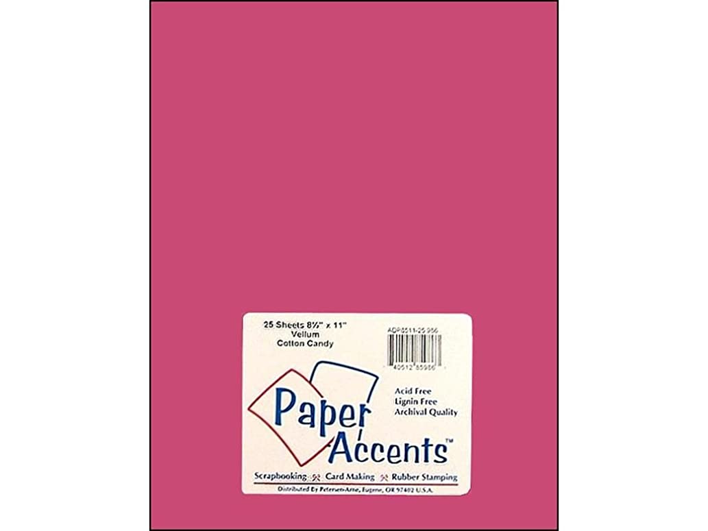 Accent Design Paper Accents Vellum 8.5x11 27# Cotton Candy