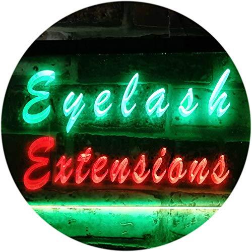 ADV PRO Eyelash Extensions Beauty Salon Shop Dual Color LED Enseigne Lumineuse Neon Sign Vert et Rouge 600 x 400mm st6s64-i0885-gr