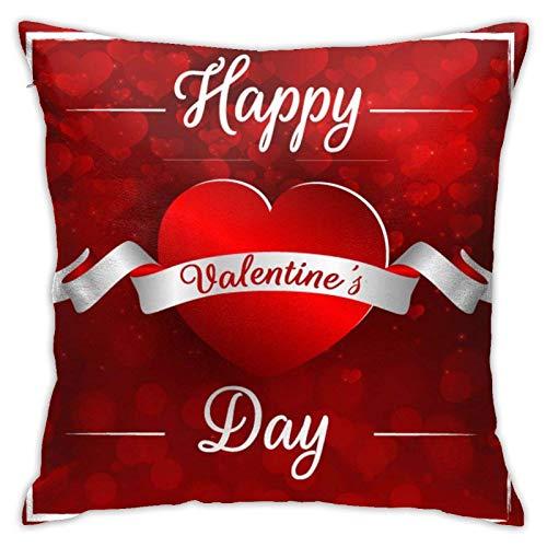 Juego de funda de almohada cuadrada para colorear para el día de San Valentín, 45,72 x 37 pulgadas