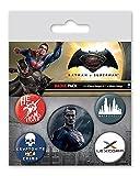 Batman Set de 5 Botones Decorativos vs Superman Superman