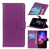 MSOSA Compatible with Case Wiko View 3 Pro, Flip Leather