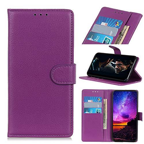 MSOSA Kompatibel mit Handyhülle Hülle Xiaomi Black Shark 2, Wallet Hülle, Handyhülle als Brieftasche, TPU Schutzhülle Handytasche mit Kartenfach Ständer Magnet_Lila