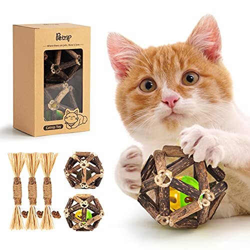Catnip Toys -5pcs, Cat Chew Toy for Indoor Cats, Natural...