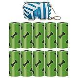 iplusmile - Bolsa para mascotas con cierre de cremallera y 150 bolsas de residuos para animales de compañía