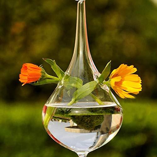 Vase Klare Wassertropfen Glas Hängende Vase Flasche Terrarium Behälter Pflanze Blume DIY Tisch Hochzeit Garten Dekor