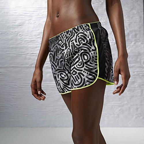 Reebok RE 4IN Short - Pantalón Corto para Mujer, Color Gris, Talla 2XS