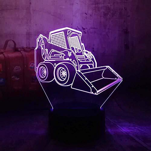 Luz De Noche 3D Luz De Noche Led 3D Lámpara De Escritorio Carretilla Elevadora Coche Usb Rgb 7 Bombilla De Cambio De Color Decoración Del Hogar Regalo Para Niños Juguetes Para Bebés