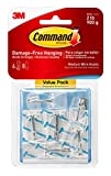 Command Medium Wire Toggle Hook Value Pack, Clear, 6-Hooks, Organize Damage-Free