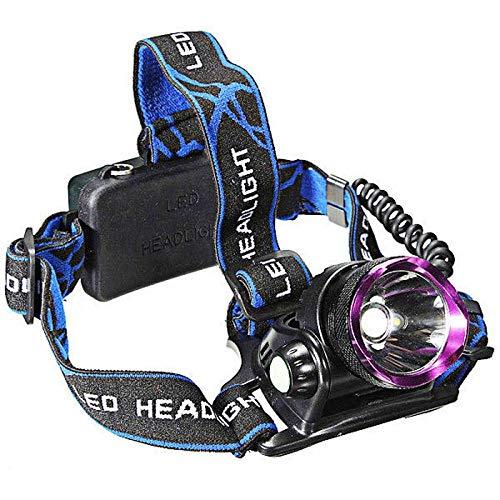HYLY XML T6 LED Aluminio 1-Bombilla 3 Modos Impermeable Faro Púrpura + Negro-Negro