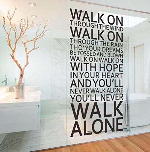 Ziruixiong Nunca Caminarás Solo Citas Inspiradoras Pegatinas De Pared Decoración De La Habitación