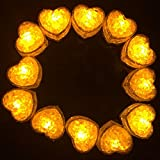 Hongtang Light Up Ice Cubes,12 Pack Flashing LED Ice Cube for Christmas Bathtubs Vases Weddings Ponds Club Bar Champagne Towers Party Holiday Decorations Yellow