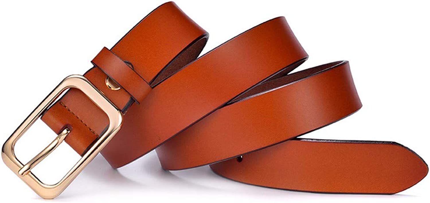 Leather Belt with Pure Leather, Fashionable Vintage Beltbrown110cm