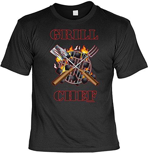 Sprüche Fun Tshirt Grill Chef Gr M in schwarz : )