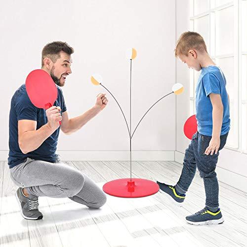 Find Bargain YYLVM Table Tennis Trainer Rebound Table Tennis Elastic Soft Shaft Single Pingpong Trai...