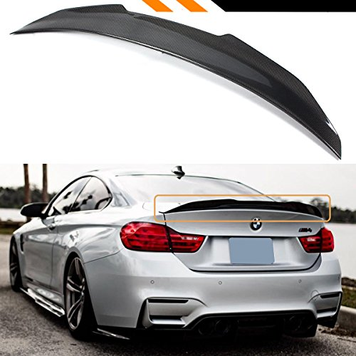 Cuztom Tuning PS Style Big Duckbill High Kick Carbon Fiber Trunk Lid Spoiler Wing Compatible for Fits 2015-2020 BMW F82 M4