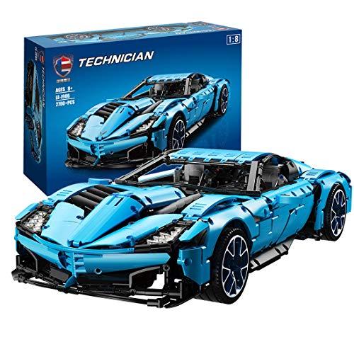 Bloque de construcción de Autos Deportivos Modelo 2700pcs 1: 8 DIY Moc Racing Coche Ladrillos de Juguete para Chevrolet Corvette Compatible con Lego Technic 42093