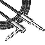 Syncwire シールド ギター SL型 【高耐久ナイロン/断線しにくい/保証付】シールドケーブル アングル エレキギター/ベース/キーボードなどに (3M)