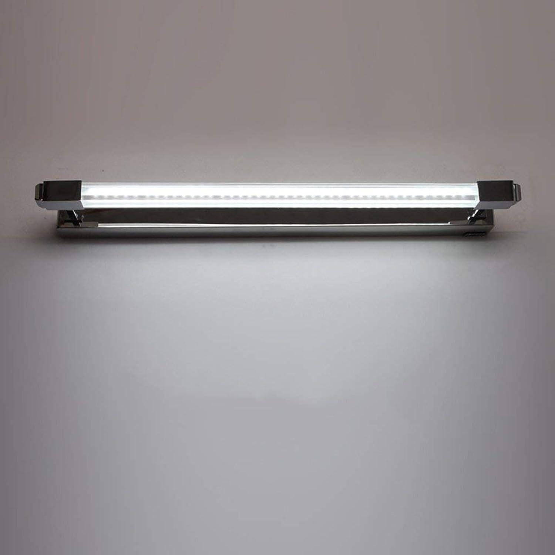 JU Spiegel-Licht-geführtes Spiegel-Scheinwerfer-Badezimmer-Toilette-einfacher Spiegel-Kabinett-Licht-rostfreier Stahl Rost-Beweis Anti-Fog-Lange Spiegel-Lampe