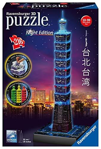 Ravensburger 3D Puzzle 11149 - Taipei 101 bei Nacht - 216 Teile