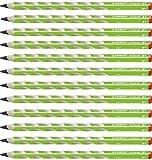 Matita Ergonomica triangolare - STABILO EASYgraph per Destrimani in Verde - Confezione da 12 - Gradazione 2B