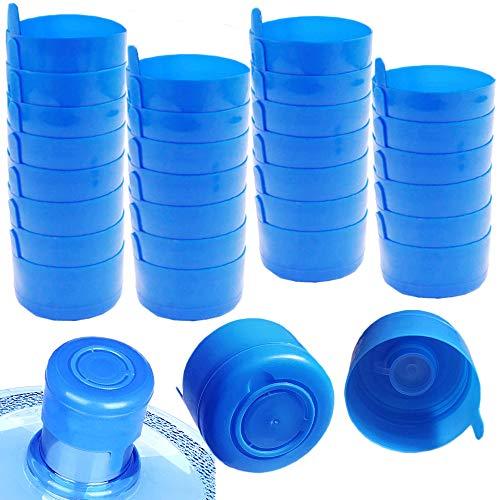 30 Pcs Non Spill Caps,55mm 3 and 5 Gallon Non-Spill Water Jug Caps,Reusable Water Bottle Snap on Cap Anti Splash Bottle Caps