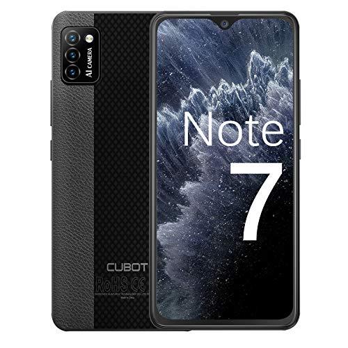 CUBOT Note 7 Handy, Smartphone ohne Vertrag, 4G Android 10 Go, 5.5 Zoll HD Display, 13MP Dreifach Kamera, 3100mAh Akku, 2GB/16GB, 128GB Erweiterbar, Dual SIM (Schwarz)