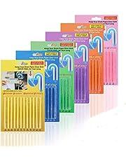 colmanda Avloppsrensarpinnar, 72 st deodoriserande dräneringsremsa giftfri för kök badrum håller avlopp och rör klara och luktförhindrar träskor (B)