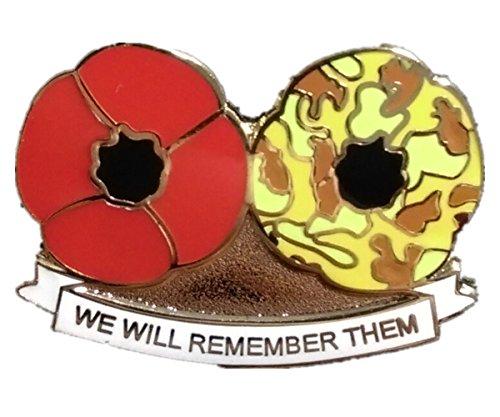 Weltkrieg-Erinnerungs-Anstecknadel, Britische Armee, roter Mohnblumen-Anstecker