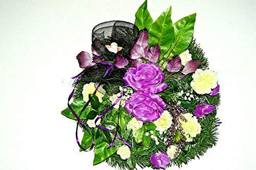tatjana-land-deko Sunday of the Dead Arrangement of All Saints Memorial Grave Ornament Roses BR1 (BR1-11)