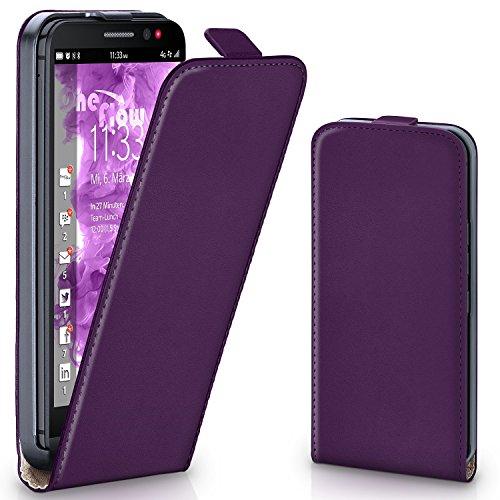 MoEx® Flipcase kompatibel mit BlackBerry Z30 | Klapphülle Handytasche mit Rundum Schutz - Handy Hülle Klappbar Flip Case, Lila