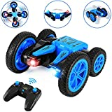 rc stunt car for kids, wontechmi remote control car, 4wd 2.4ghz 360 degree flips double sided